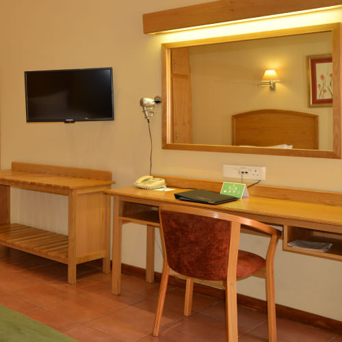 Deluxe Twin Suite with tv and mirror