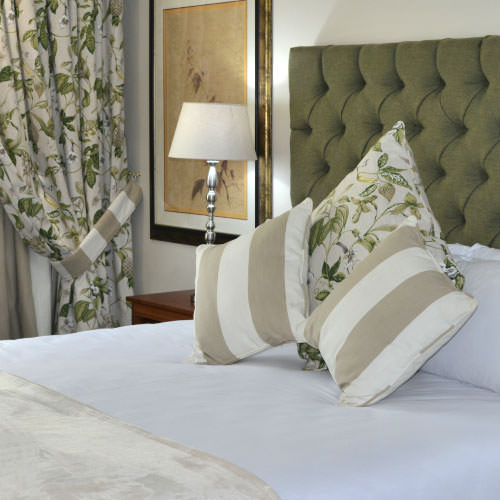 The Park Hotel's Executive Suite pillows and plants